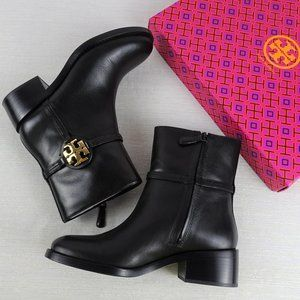 Tory Burch Miller Black Bootie Calf Leather 6.5